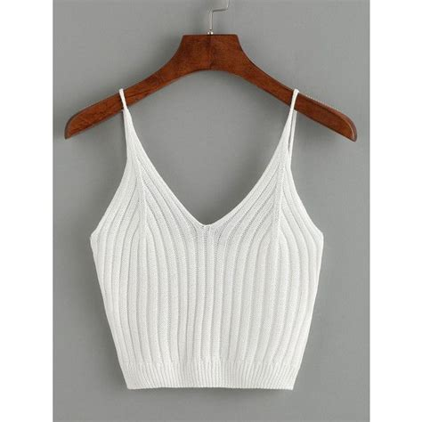 Cropped Ribbed Tank Top White S 25 best ideas about white crop tops on casual