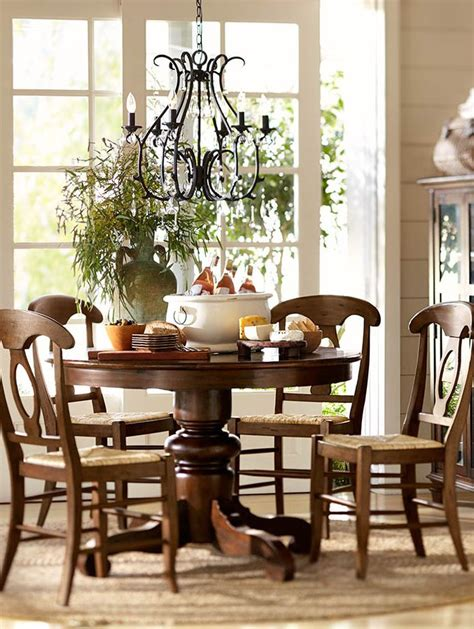 gather around the table potterybarn dining rooms table and chairs pedestal