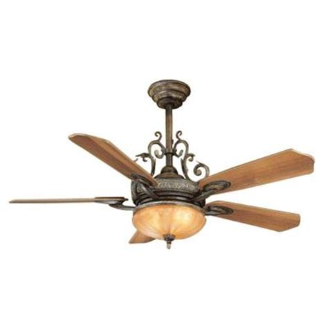 Home Depot Ceiling Fan With Light by Hton Bay Chateau 52 In Walnut Ceiling