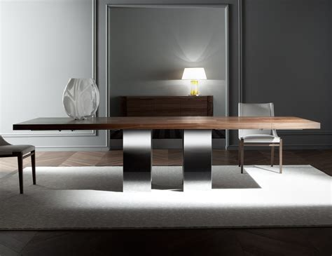 Italian Dining Tables Modern Nella Vetrina Costantini Pietro Soho 9111 Modern Italian Dining Table