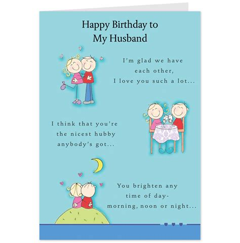Husband Birthday Card Message Birthday Card For Husband New Calendar Template Site
