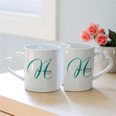 Mug Custom Kado Wedding personalized initial wedding mug set