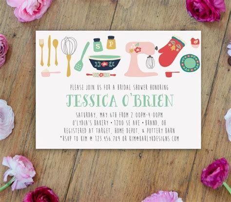 free printable bridal shower invitations theme kitchen theme bridal shower invitation printable bridal