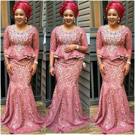 latest cord lace and styles nigerian cord lace aso ebi styles for ladies
