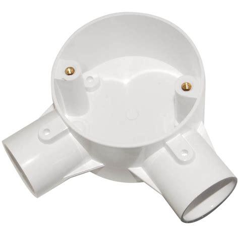 Pvc Conduit System 2 Way Angle buy mita 25mm 2 way angle box white from websparky
