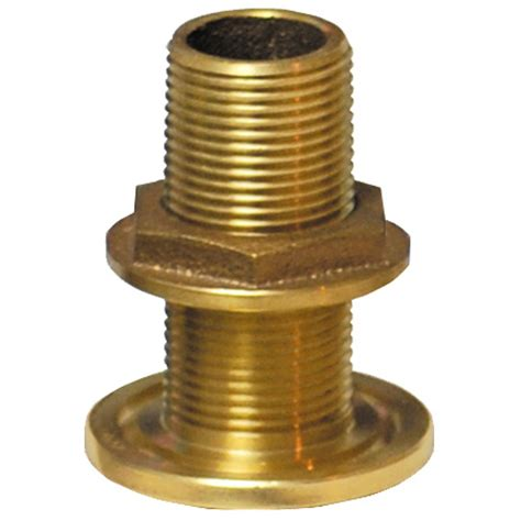 Marine Plumbing Fittings by Groco 1 1 4 Quot Bronze Thru Hull Fitting With Nut West Marine
