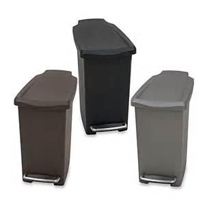 simplehuman 174 mini slim plastic 10 liter step on trash can