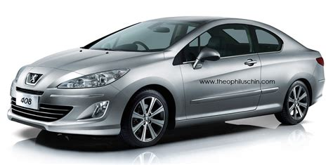 peugeot door peugeot 408 coupe rendering offers a two door take