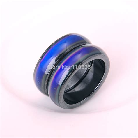 fashion magnetic hematite mood ring for and ring