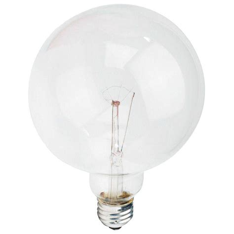 60 watt clear globe light bulb philips 60 watt g40 incandescent duramax clear