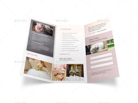Wedding Menu Brochure by Wedding Planner Trifold Brochure By Mike Pantone