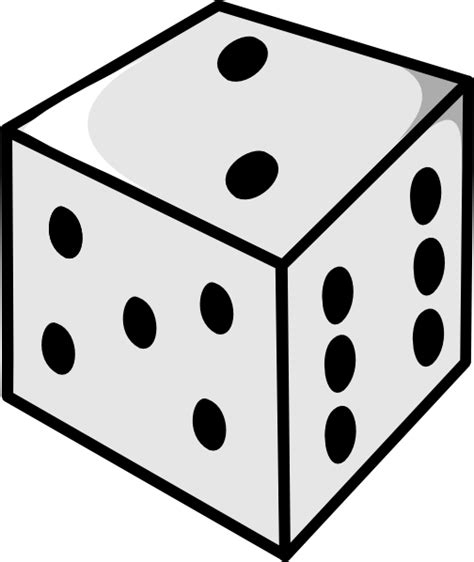 printable dice images cartoon dice clipart best