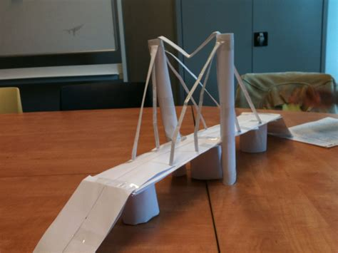 How To Make A Paper Bridge - how to make paper bridges science project ideas