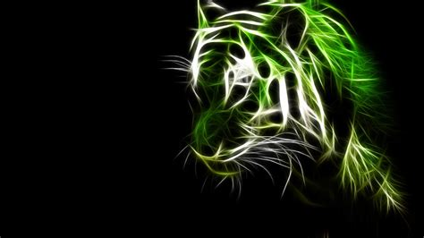 wallpaper hd 1920x1080 green green cats animals tigers fractalius black background