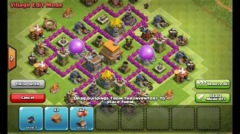 layout kuat coc th 6 clash of clans town hall 6 defense coc th6 hybrid base