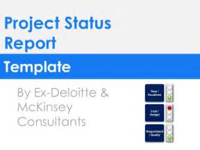 Mckinsey Consulting Report Template by Project Status Report Template