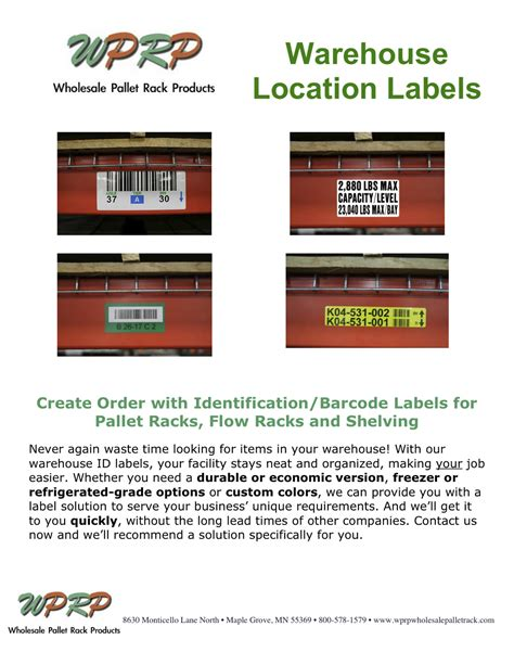 Warehouse Rack Labeling Systems storage equipment archives wprp wholesale pallet rack