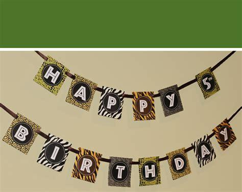 printable safari banner safari party another happy customer 505 design inc