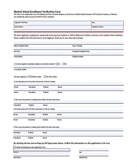 50 Sle Verification Forms Sle Templates Insurance Enrollment Form Template
