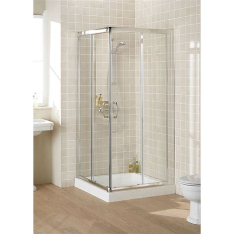 Reduced Height Shower Door Lakes Corner Entry 750x750 Reduced Height Shower Enclosure Buy At Bathroom City