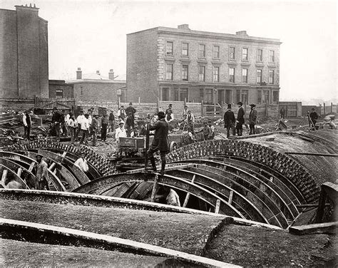 Vintage: London Underground Construction (Victorian Era