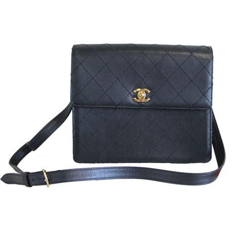 chanel black vintage caviar leather ghw crossbody bag