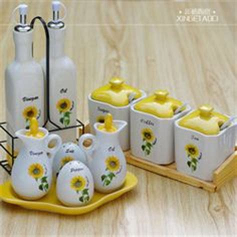 Sunflower Canister Sets Kitchen Sunflower Kitchen Ceramic Sunflower Kitchen Canister Set