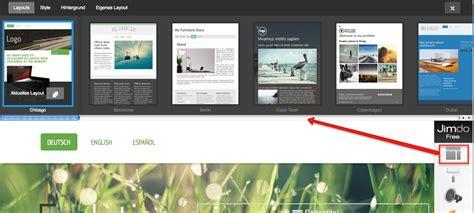 Design Vorlagen Jimdo Jimdo Update Neue Benutzeroberfl 228 Che Und Style Opitionen Homepage Bauk 228 Sten Im Test