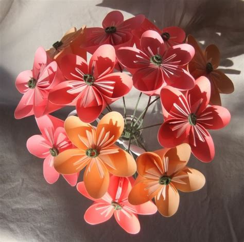 Origami Bouquet Of Flowers - pink origami flower bouquet aftcra