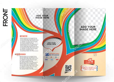 tri fold school brochure template school brochure 22 in psd vector pdf