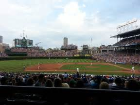 section 216 wrigley field wrigley field section 215 row 1 seat 110 chicago cubs