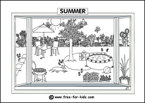 coloring pages seasons colouring pages summer season