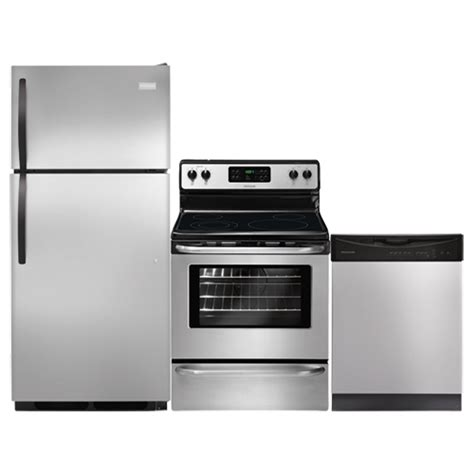 stainless steel kitchen appliance bundles frigidaire 3 piece kitchen package stainless steel