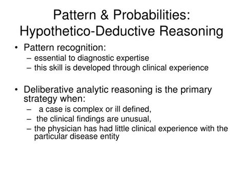 pattern recognition clinical reasoning ppt clinical diagnostic reasoning powerpoint
