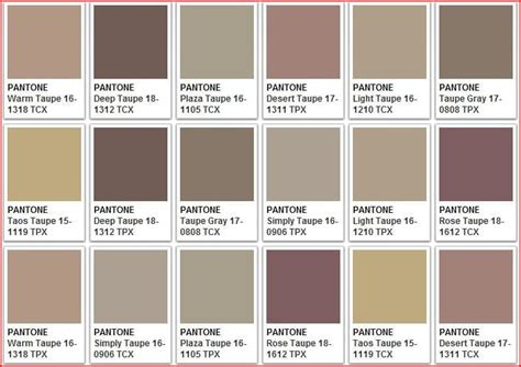 taupe colors taupe color chart