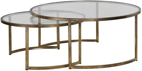 Nested Coffee Table Rhea Nested Coffee Tables Set Of 2 From Uttermost Coleman Furniture