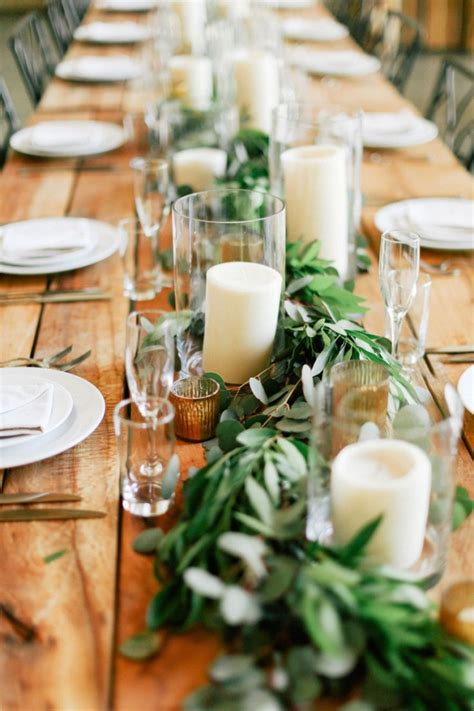 Wedding Reception Table Settings Rustic Wedding Reception Table Settings