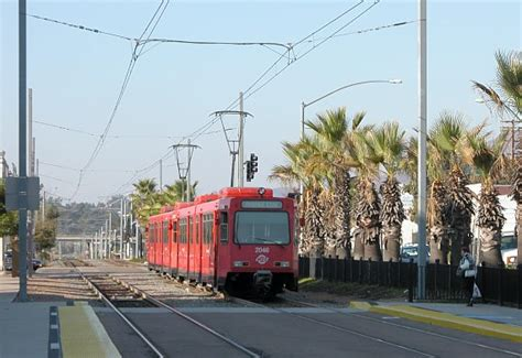 San Diego Light Rail by Leaving La Mesa Blvd