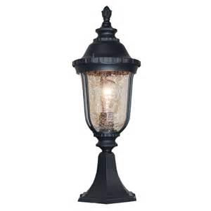 Outdoor Pillar Lighting Deluxe Black Finished Outdoor Pillar Lighting Deco Gareden Light L Ebay