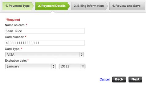 html input pattern credit card new credit card form ux patterns