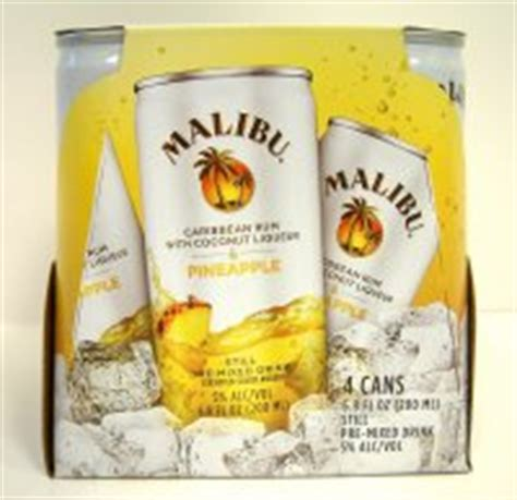 malibu premixed cans malibu cocktail can rum pineapple 4pk 6 8oz cans id