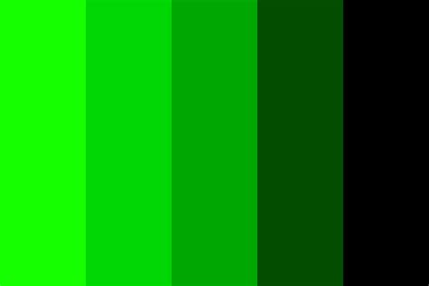 monochromatic color reverse monochromatic green color palette
