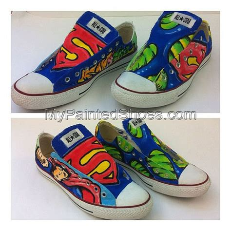 Superman Canvas Shoes superman shoes superman painted shoes