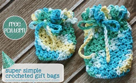 crochet pattern gift bag cute and simple crochet gift bags allfreecrochet com