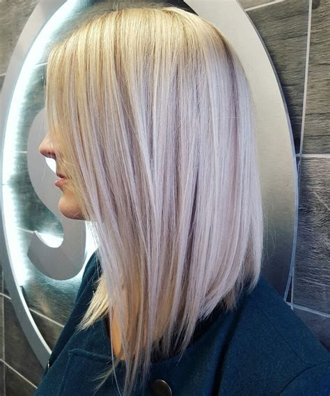 bob platinum blonde hair lob long bob platinum blonde icy blonde lowlights
