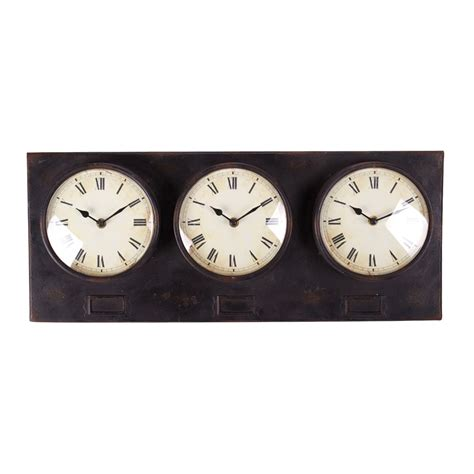 buy clock buy metal triple clock online purely wall clocks