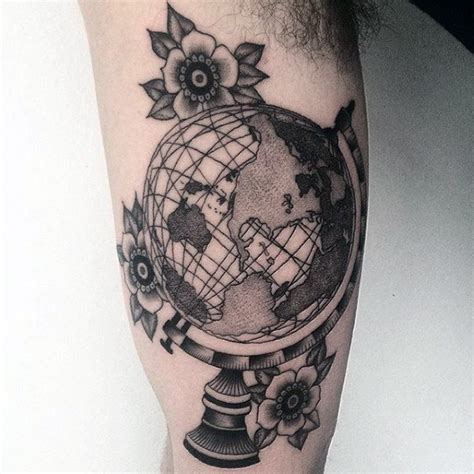 globe tattoos 80 globe designs for traveler ink ideas