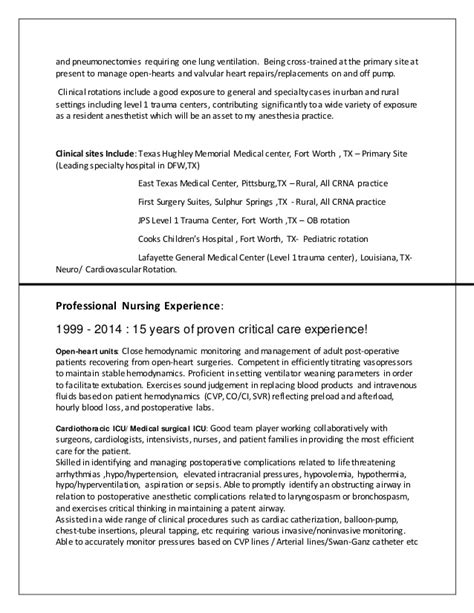 Crna Resume by Crna Resume Resume Ideas