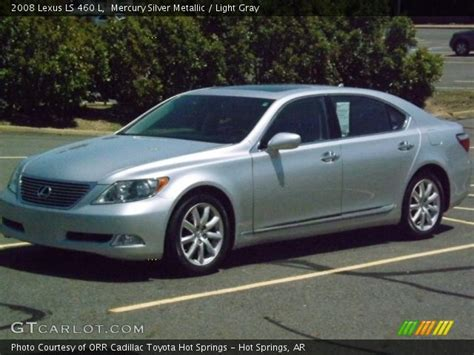 silver lexus 2008 mercury silver metallic 2008 lexus ls 460 l light gray