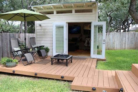 backyard office shed vanessa s small and smart quot world shedquarters quot backyard